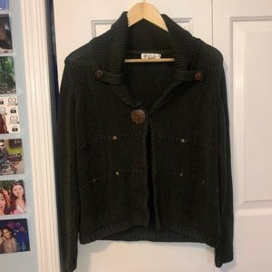 Christopher & Banks Green Sweater